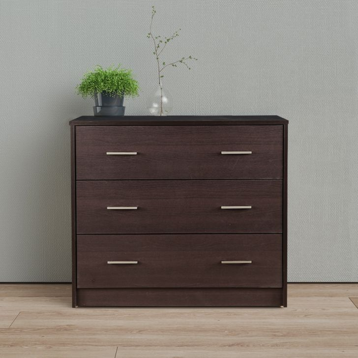 Atlas Engineered Wood Chest of Drawers in Beech Colour