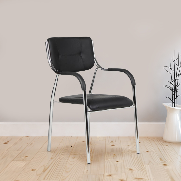 Swan Fabric Office Chair in Black Colour by HomeTown