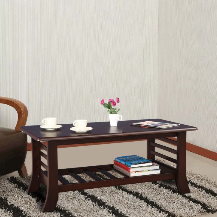 Herman Solid Wood Center Table in Brown Colour by HomeTown