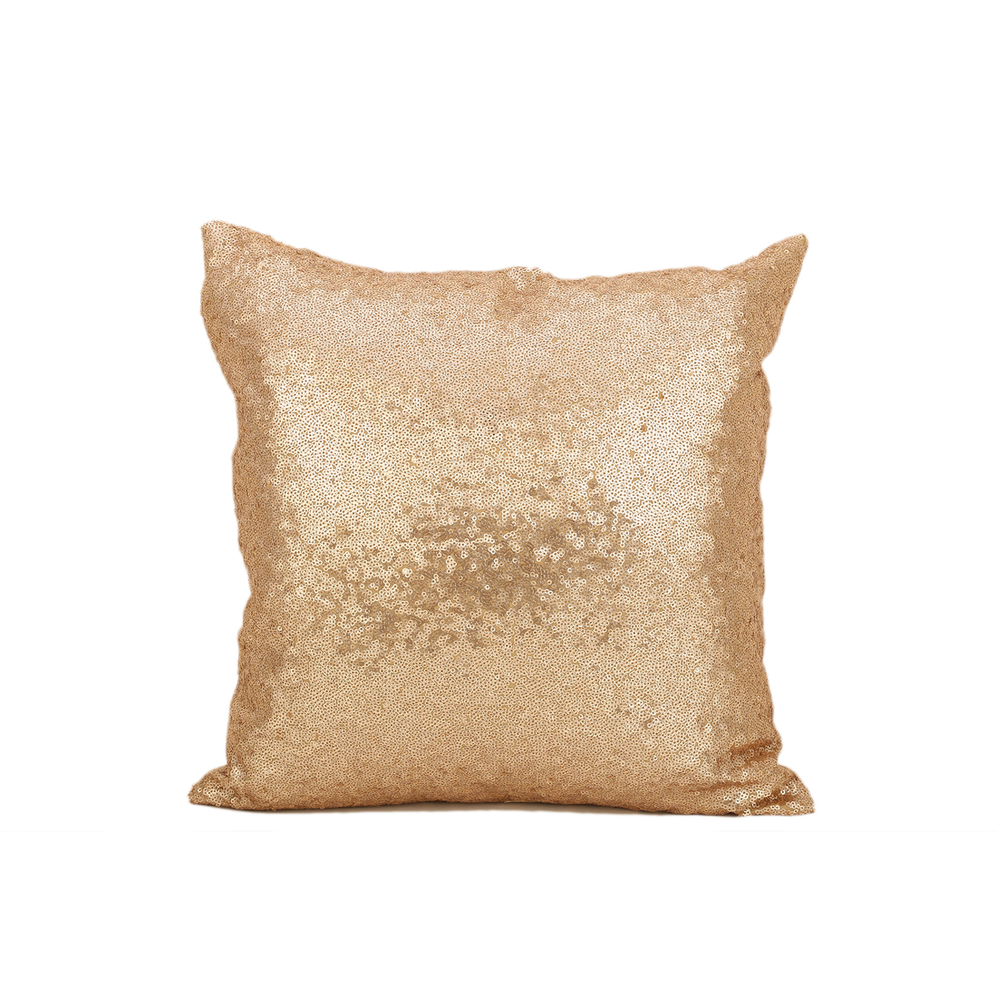 Shimera Gold Polyester Filled Cushions in Gold Colour by Living Essence