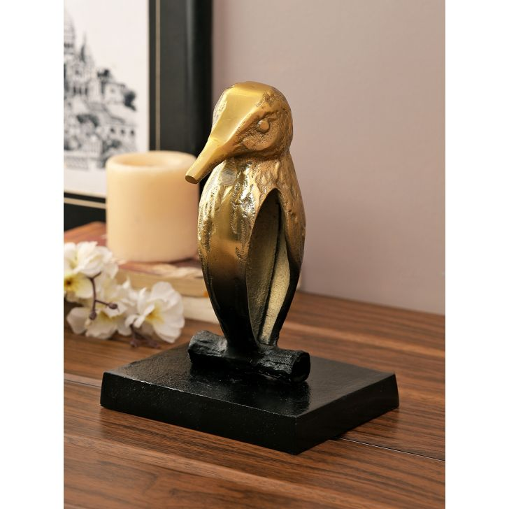 Jashn Bird Metal Figurines in Bronze Colour by Living Essence
