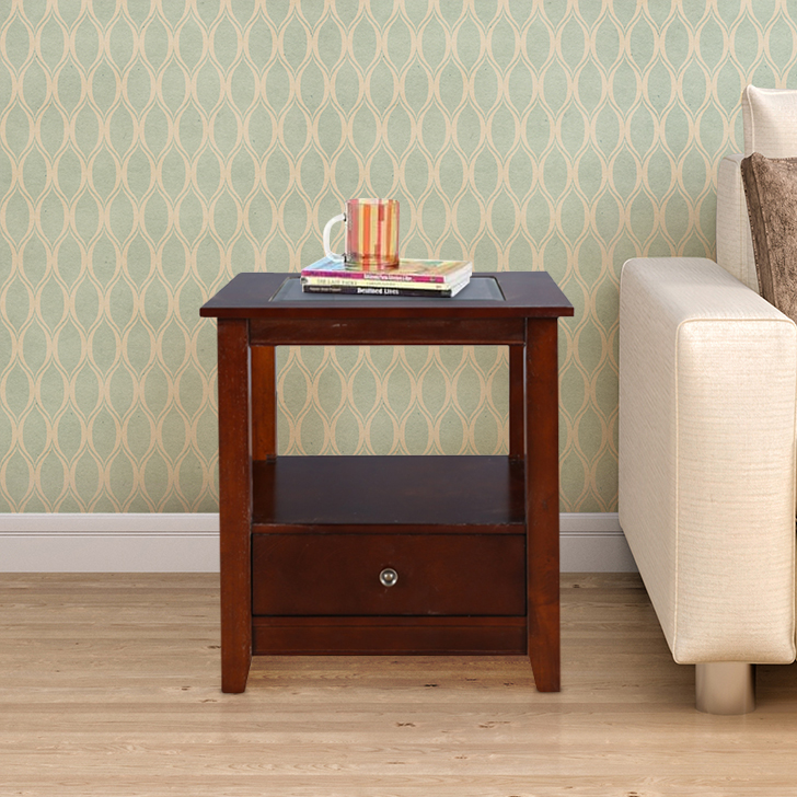 Giselle Solid Wood End Table in Brown Colour by HomeTown