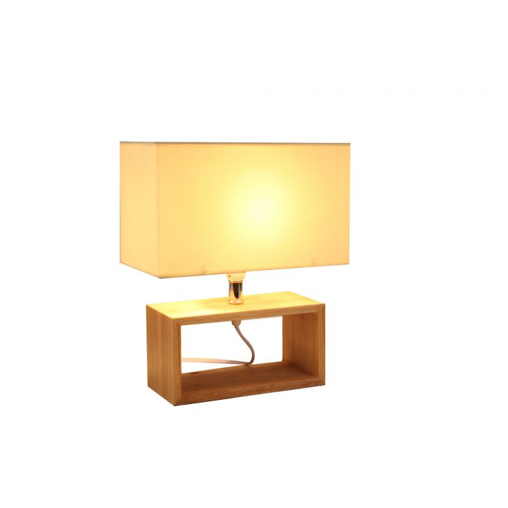 Lucent Wooden Square Lamp White