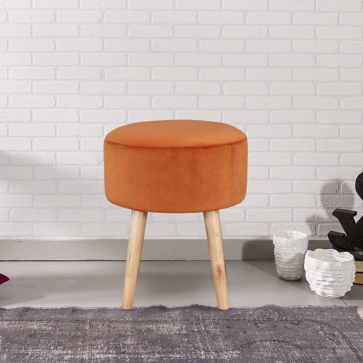 Murf Solid Wood Ottoman in Rust Color by HomeTown