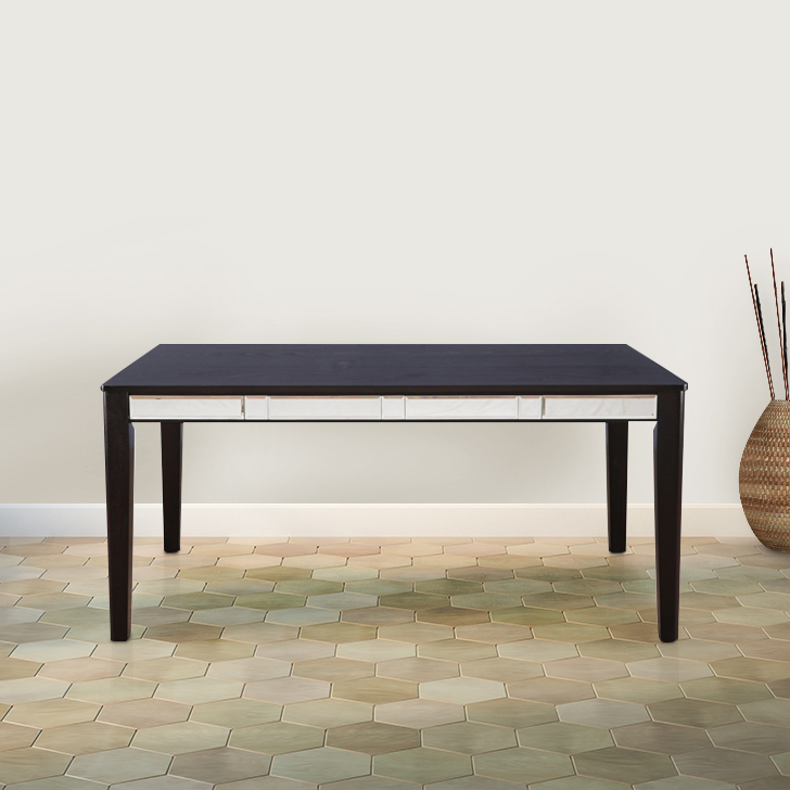 Madrid Solid Wood Six Seater Dining Table in Cappucino Colour by HomeTown