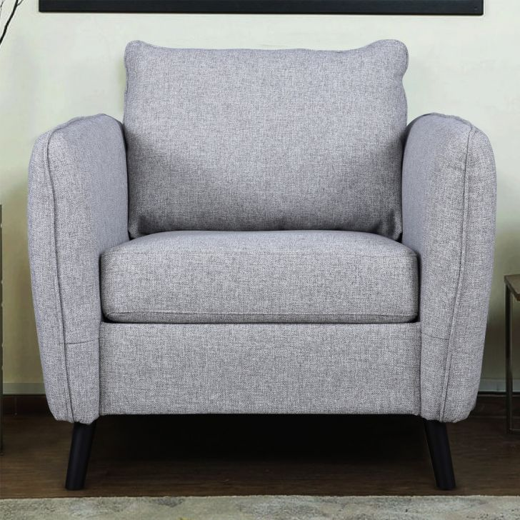 Sorrento Fabric Single Seater Sofa in Grey Colour by HomeTown
