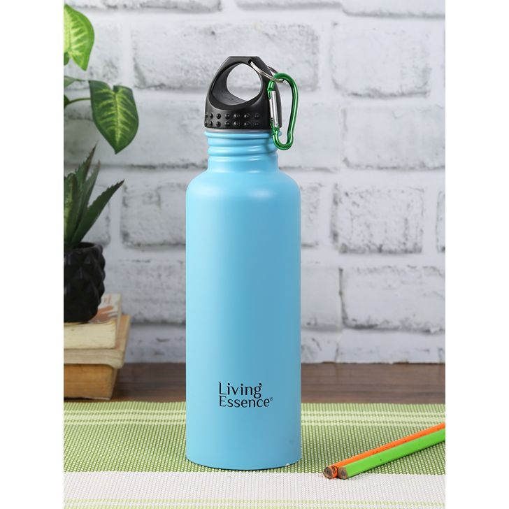 Pro Stainless Steel Bottle 750 Ml in Blue Colour by Living Essence