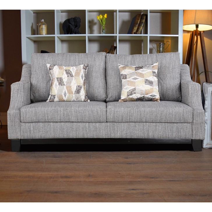 Tremblay Fabric Three Seater sofa in Grey Colour by HomeTown