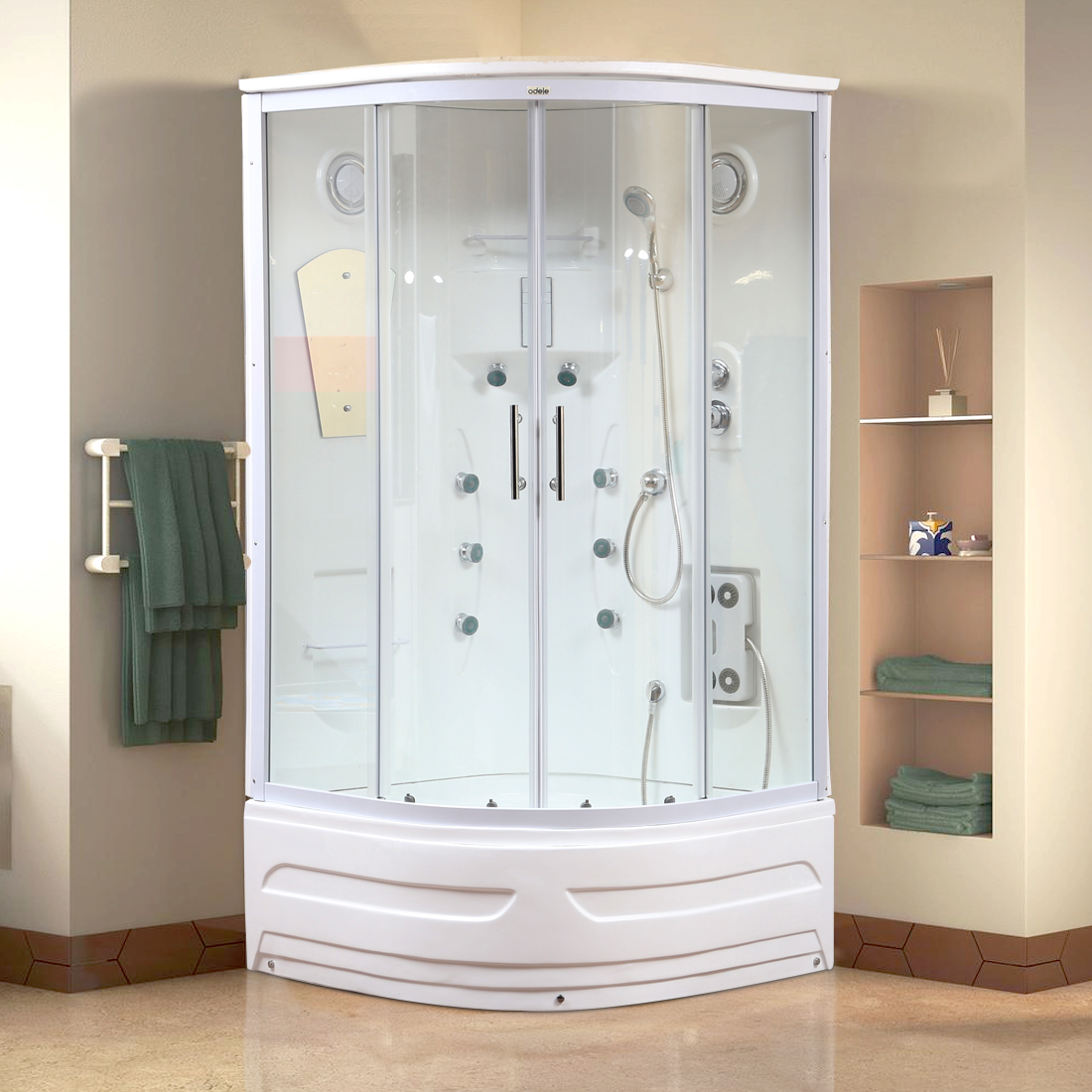 Axel Shower Multifunctions in White Colour by HomeTown