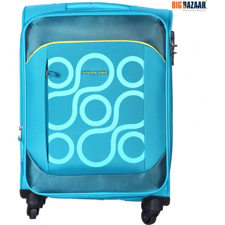 KAM HARITA PolYester Soft Trolley in Aqua Colour by Kamiliant by American Tourister
