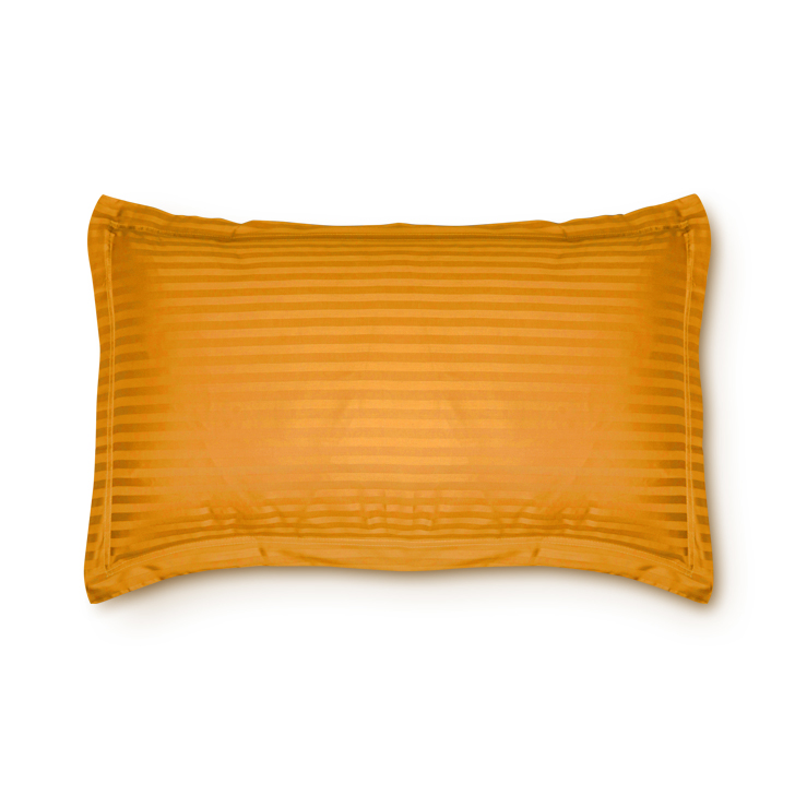 Living Essence Cotton Pillow Covers in Mustard Colour by Living Essence
