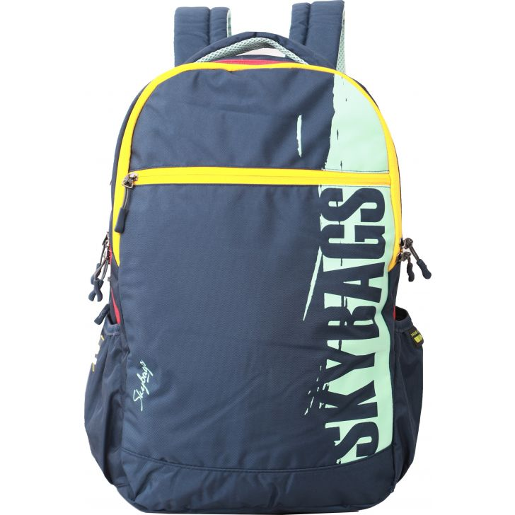 Skybags Skater 06 Laptop Backpack With Rain Cover (Navy Blue)