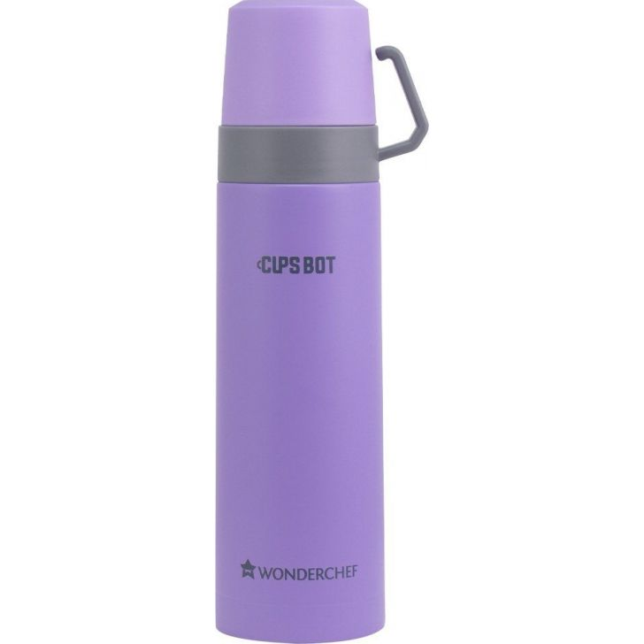 CupsBot Stainless steel Vacuum Insulated Hot And Cold Flask 500ML in Purple Colour