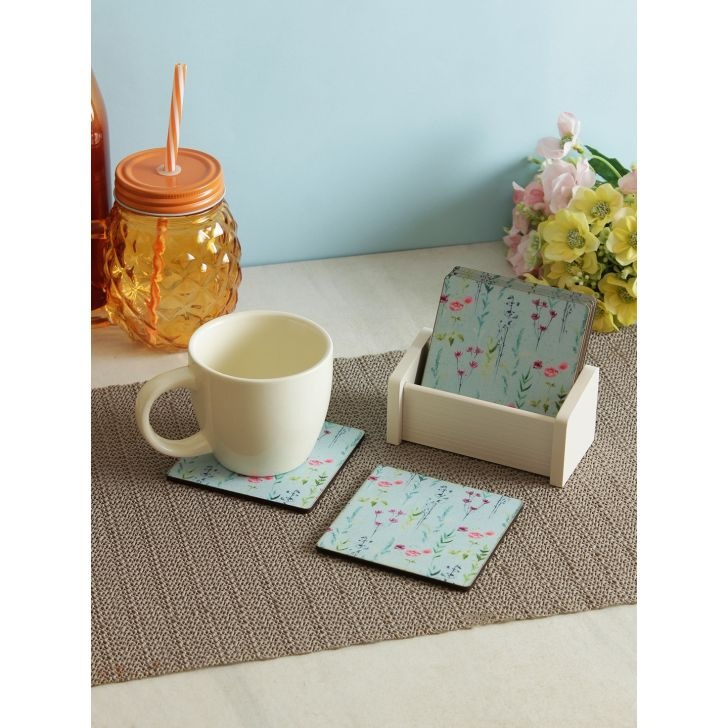 Wood Coaster in Multi Colour by Living Essence