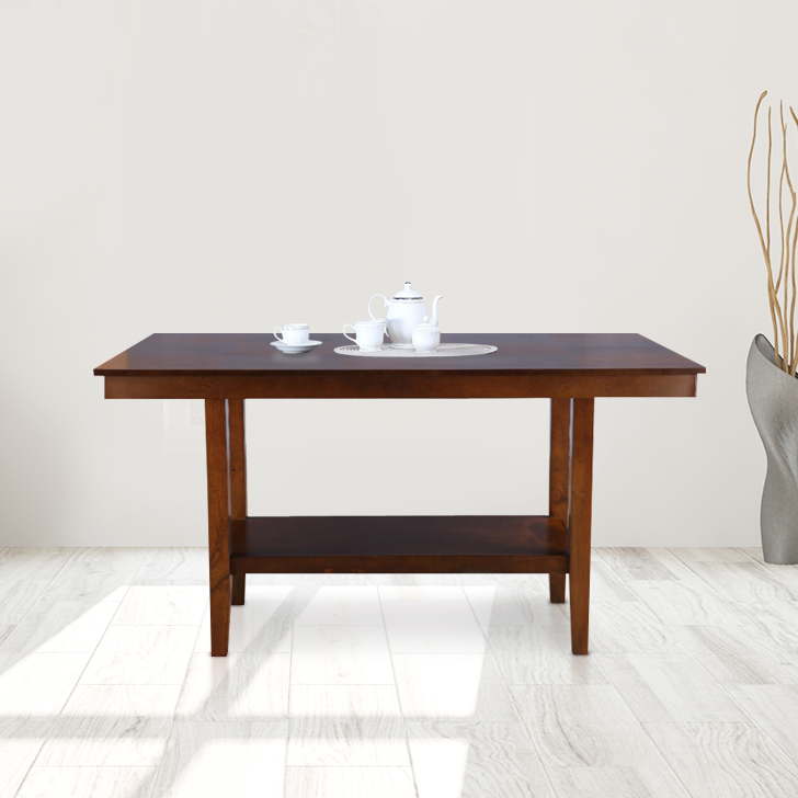 Lobito Solid Wood Six Seater Dining Table in Walnut Colour by HomeTown