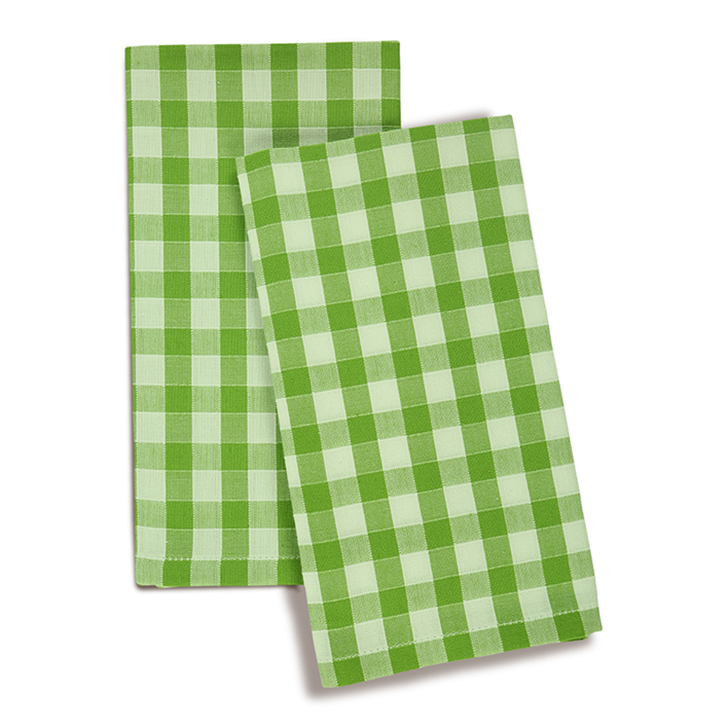 Living Essence Cotton Kitchen Towels in Green Colour by Living Essence