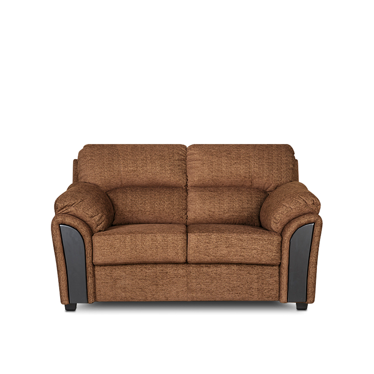 Ohio Fabric Two Seater Sofa in Dark Brown Colour by HomeTown