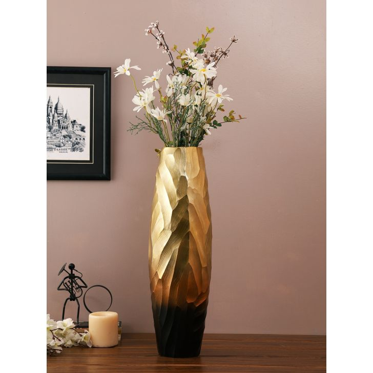 Jashn Metal Vases in Bronze Colour by Living Essence