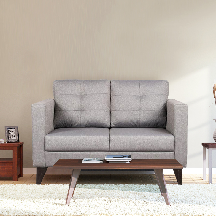 Castellar Two Seater Sofa in Grey Colour by HomeTown