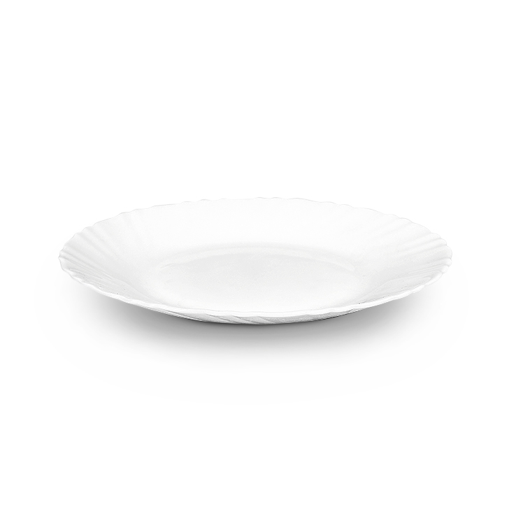 Diva Glass Plates in White Colour by Diva