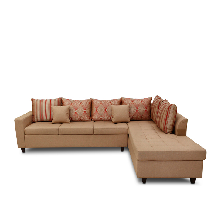 Belmont Fabric Lounger in Brown Colour by HomeTown
