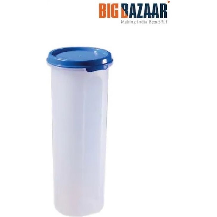 Magic Seal Round Oil Container, 810 ml, Plastic in Blue Colour by Polyset
