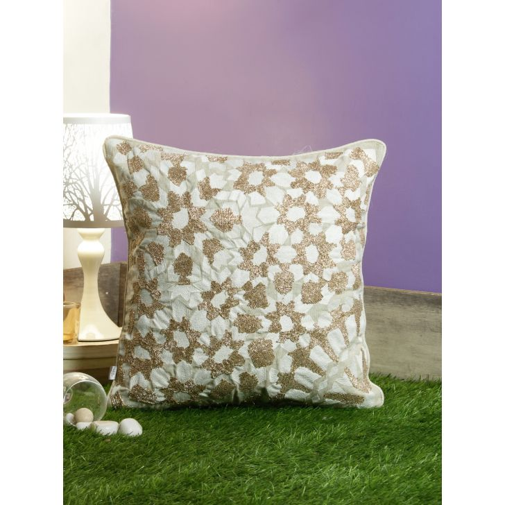 Moroccan Champ Cotton Cushion Covers in Gold Colour by Living Essence