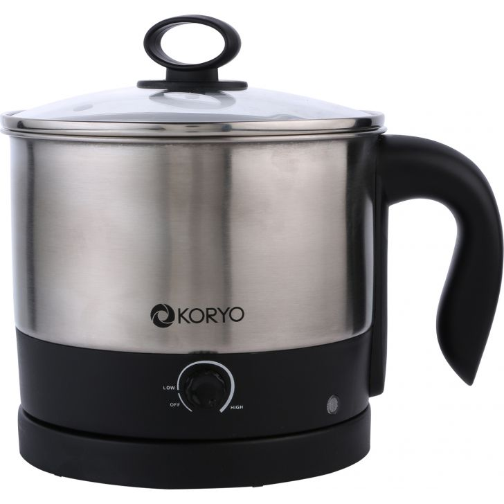 Multipurpose Electric Kettle - 1.2 Litres - Black by Koryo