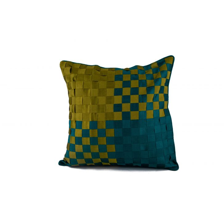 Basket Citron Cushion Cover Cotton Cushion Covers in Citron Colour by Living Essence
