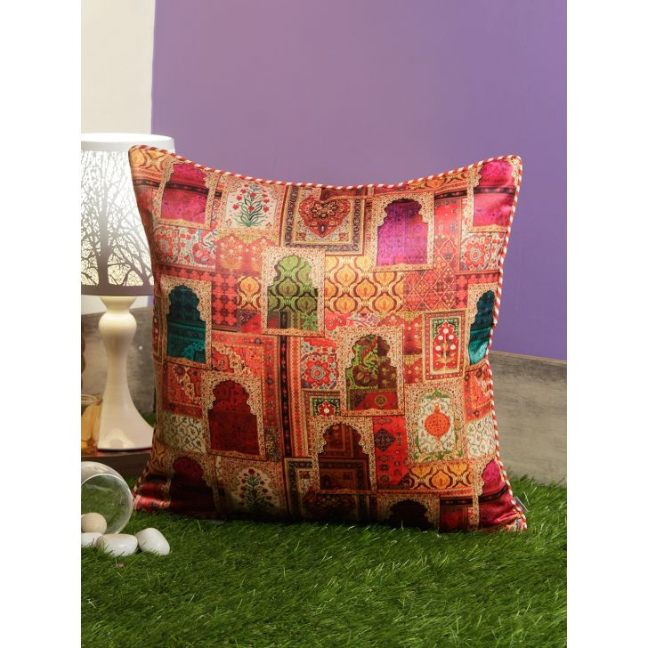 Digi Windows Polyester Cushion Covers in Multi Colour by Living Essence