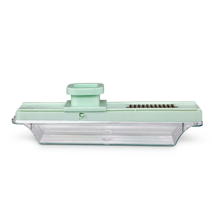 Crystal Plastic and Stainless Steel Knives & Graters in Light Green Colour by Living Essence