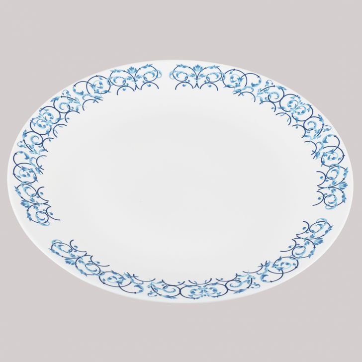 Diva Ivory Full Plate Royal Arch Glass Plates in White Colour by Diva