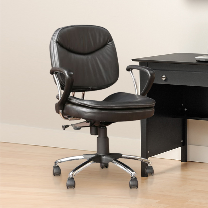 Diego Fabric Office Chair in Black Colour by HomeTown