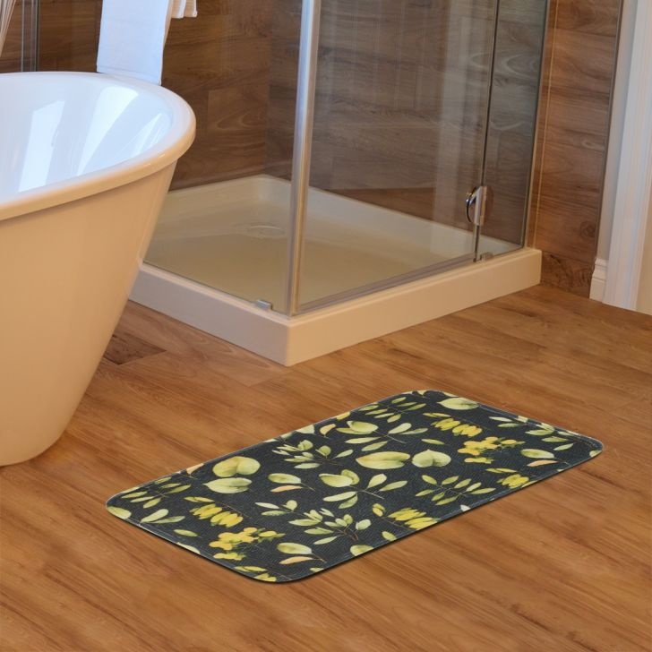 Fiesta Set of 2 Polyester Bath Mats in Green Colour by Living Essence