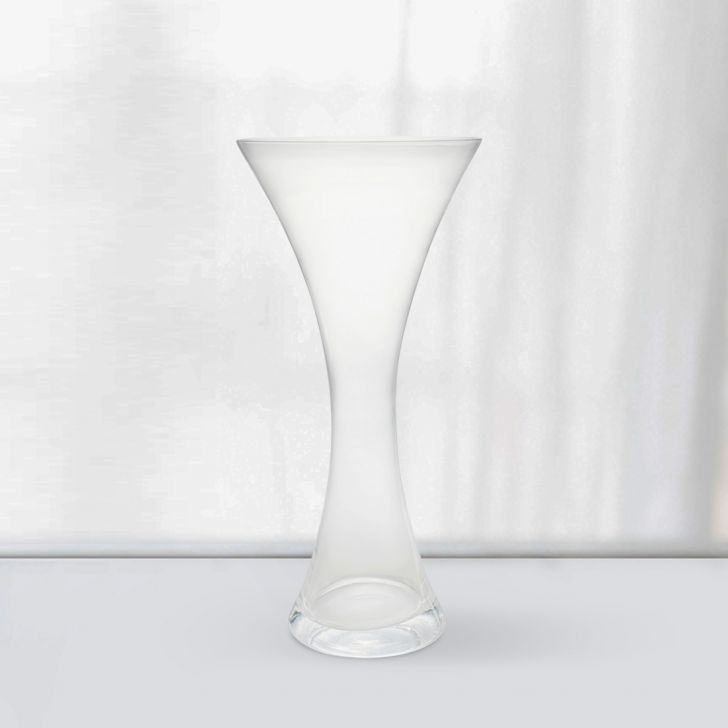 Nile Curved Clear Glass Vase 59 Cm Glass Vases in CLEAR Colour by Living Essence
