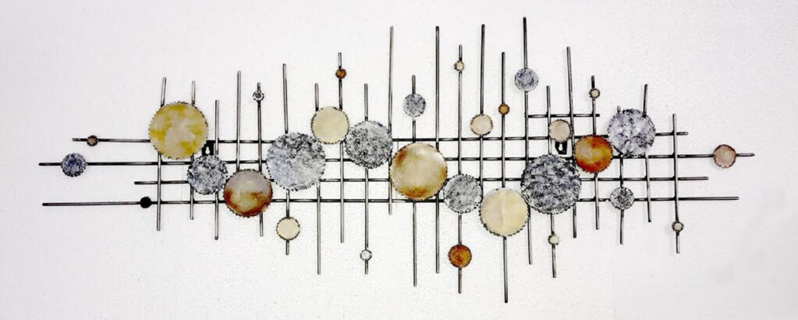 Foram Wall Panel Iron Large Wall Accents in MultiColor Colour by Royce