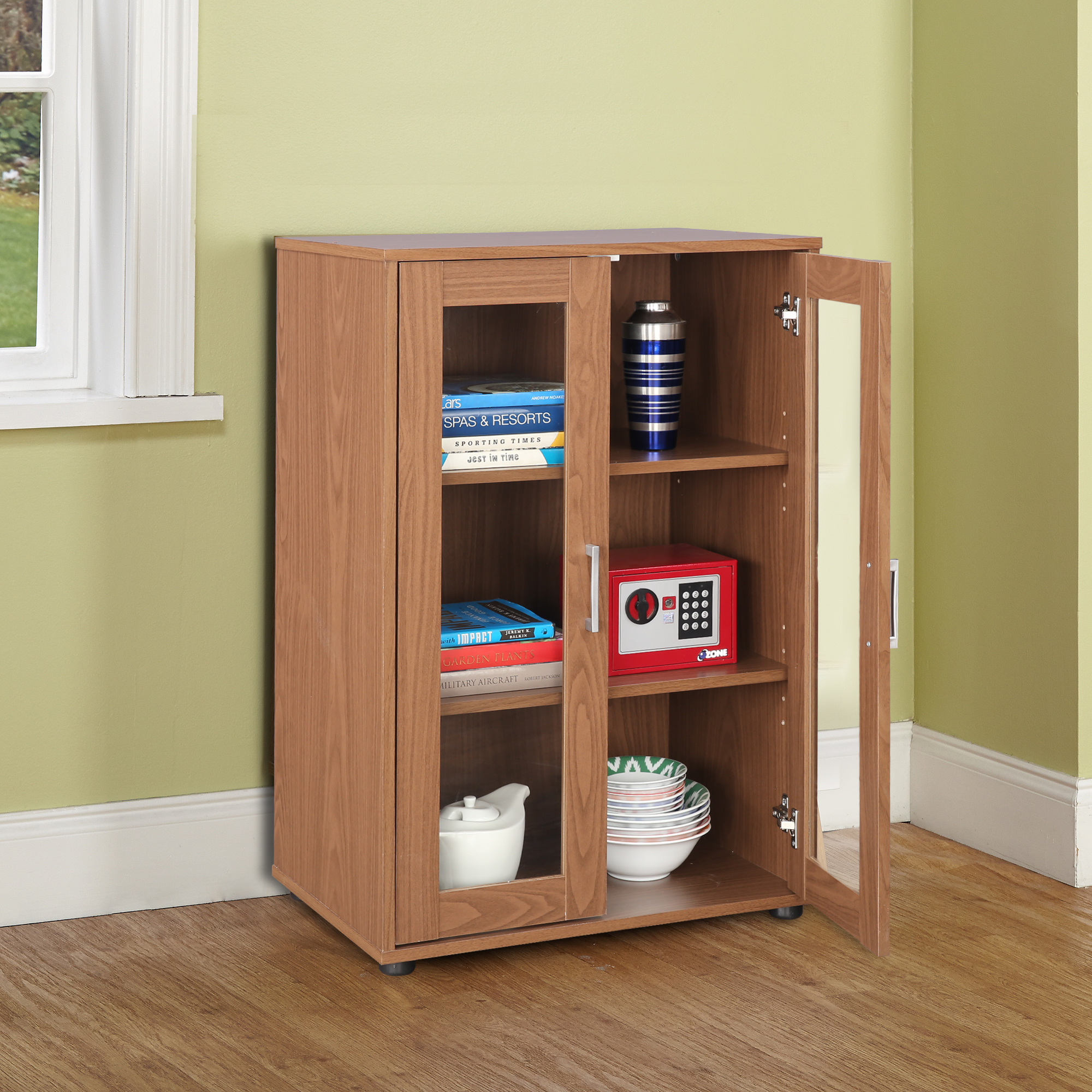Epson Engineered Wood Multipurpose Cabinet in Walnut Colour by HomeTown