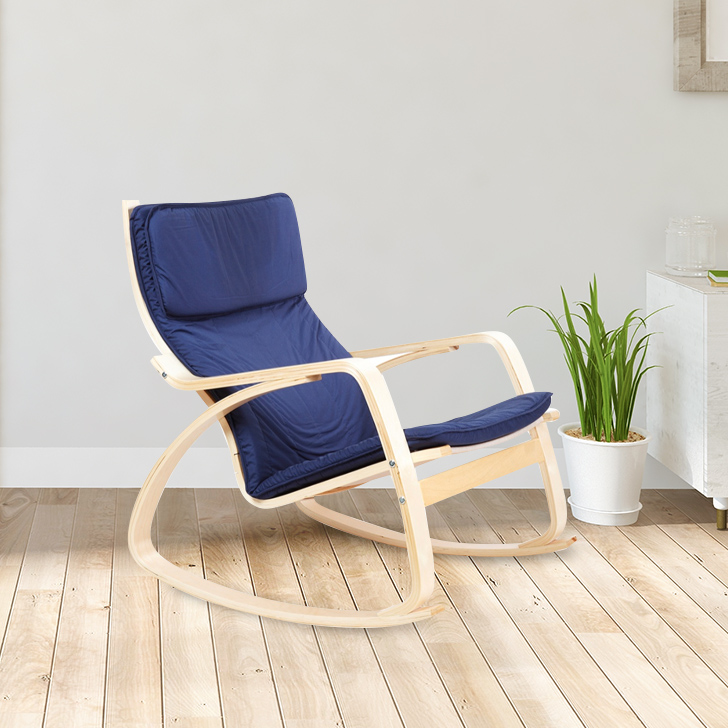 Vita Plywood Outdoor Chair in Blue Colour by HomeTown