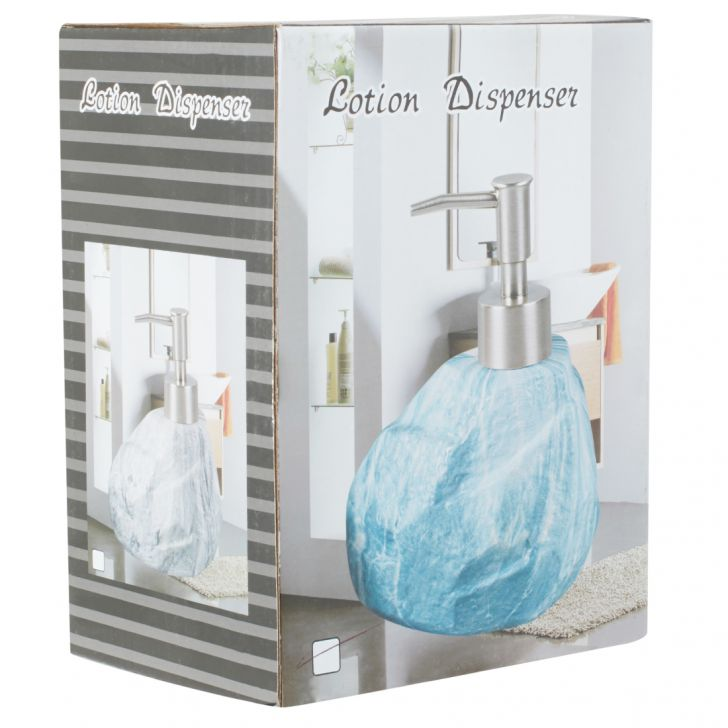 Liquid Soap Bottle Ceramic Soap Dispensers in Blue Colour by Living Essence