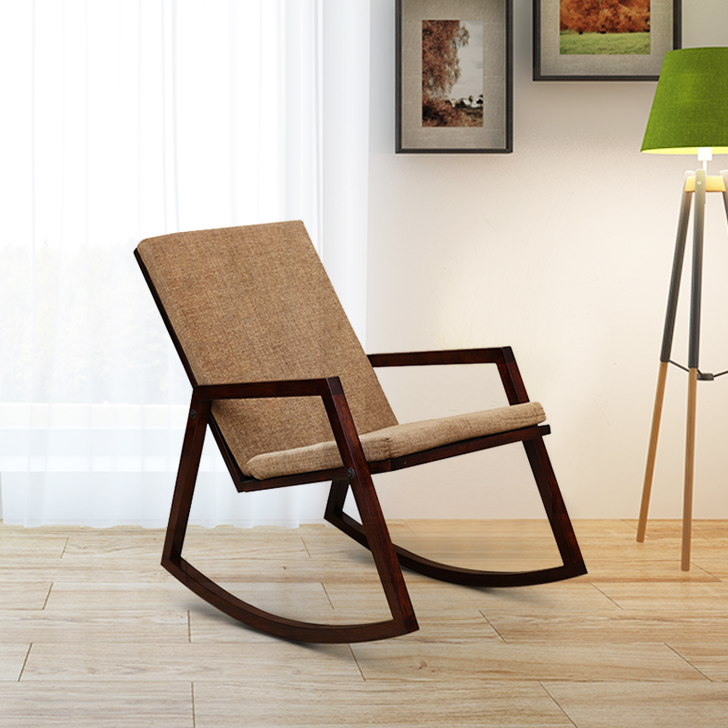 Ace Solid Wood Rocking Chair in Brown Colour by HomeTown