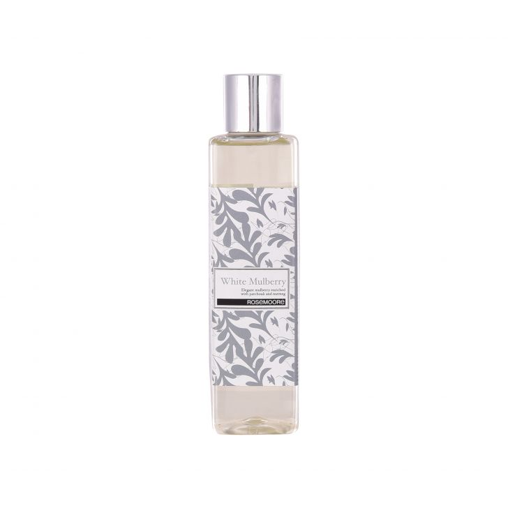 Rosemoore White Egyptian Cotton Scented Oil For Living Room, Washroom, Bedroom, Office - 15 ML Glass Diffusers in White Colour by Rosemoore