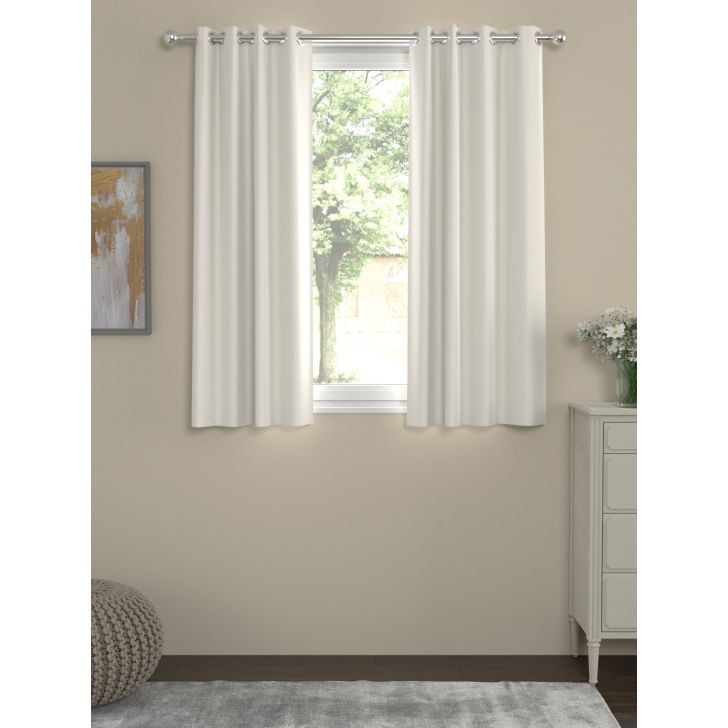 Erba Blackout Window Curtain In Cream Color By Rosara Home
