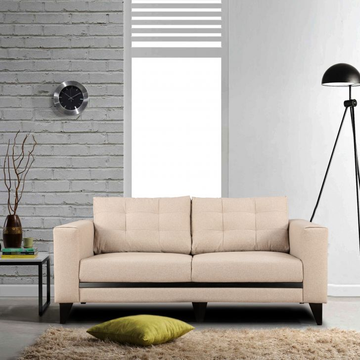 Garcia Fabric Three Seater sofa in Beige Color by HomeTown