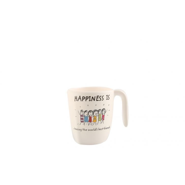 Happiness Symphony Assorted Food Grade Melamine Mugs in Multicolor Colour by Living Essence