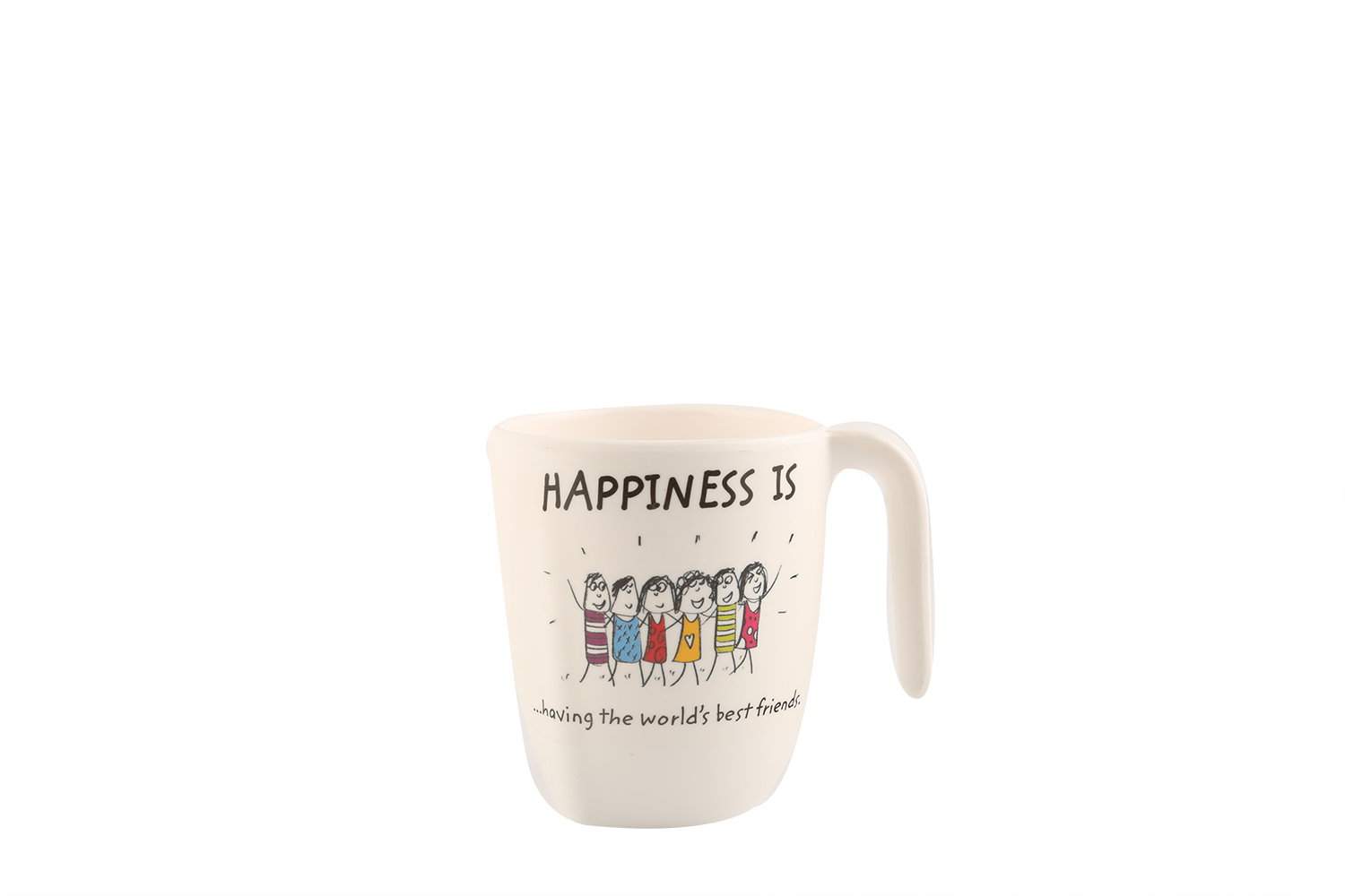 HAPPINESS SYMPHONY MUG L -Mod Asrt Food Grade Melamine Glasses & Tumblers in Multicolor Colour by Servewell