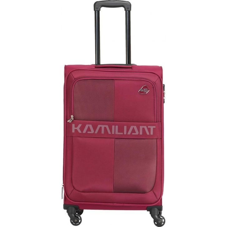 Oromo 69 cm Polyester Soft Trolley in Magenta Colour by KAMILIANT
