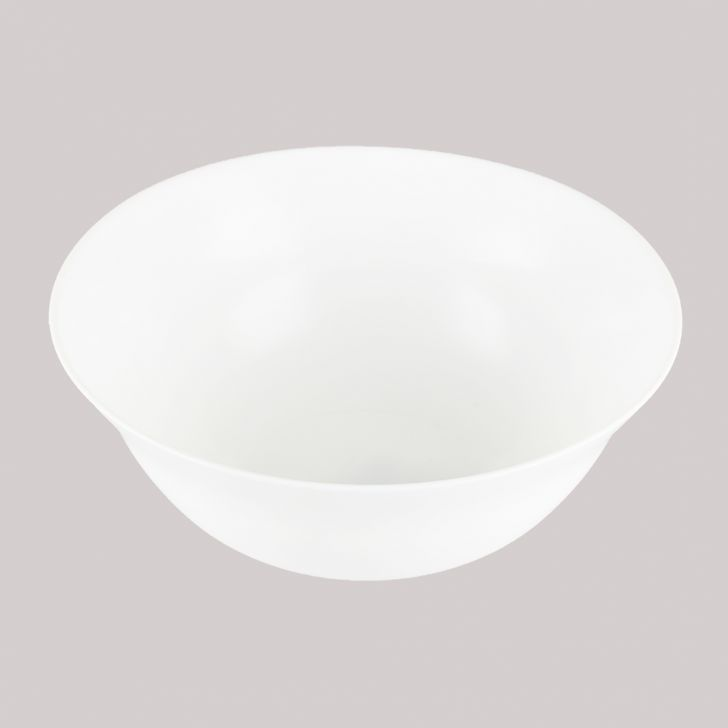 Diva Ivory Serving Bowl Medium Plain Glass Serving Bowls in White Colour by Diva