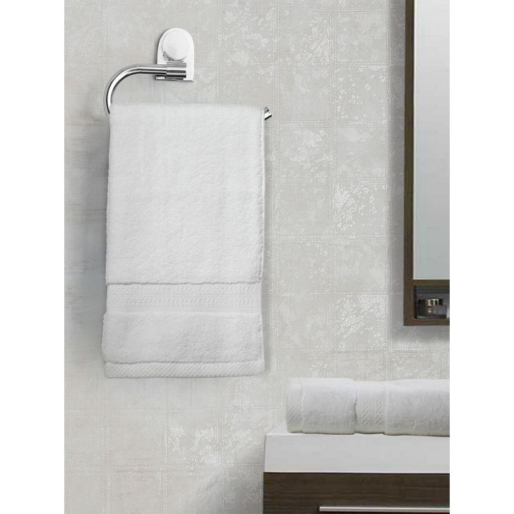 Paradiso Cotton Set Of 2 Hand Towel 40X60 Cm in White Colour
