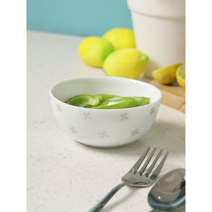 Glowing Grace Opalware Soup Bowl in Multi Colour by Living Essence