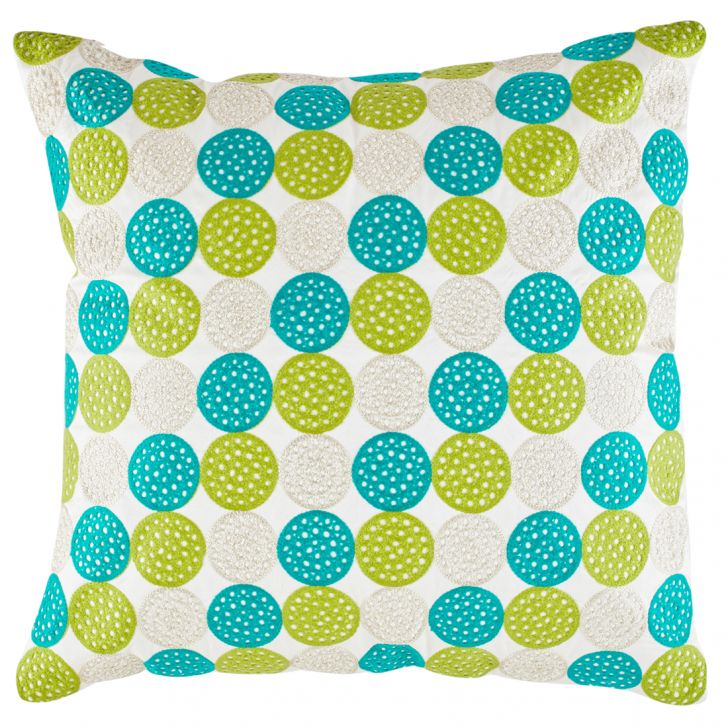 Circle Polyester Cushion Covers in Citron Colour by Living Essence